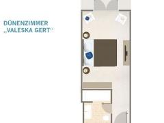 Grundriss - Dünenzimmer Mit Miniterrasse 26Qm
