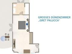 Grundriss - Großes Dünenzimmer Mit Terrasse 35Qm